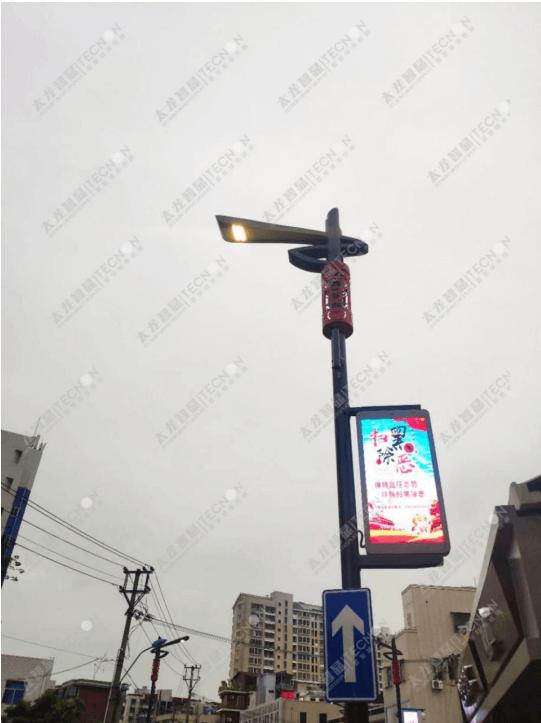 LED灯杆屏 立柱广告机 智慧灯杆屏 LED广告机 智慧路灯屏 灯杆广告机 灯杆屏