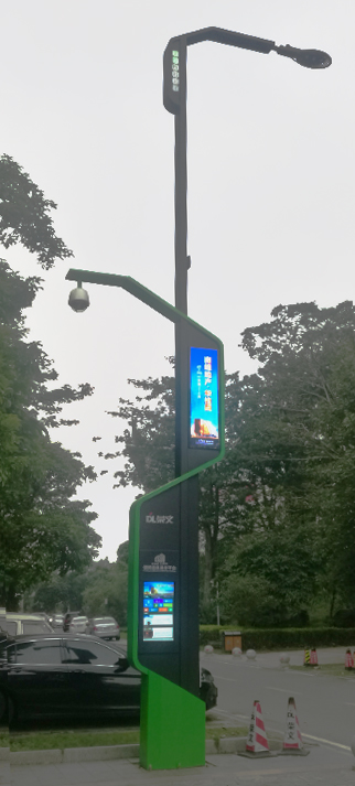 led灯杆屏 智慧灯杆屏 立柱广告机 led广告机 智慧路灯 户外LED广告机 灯杆屏