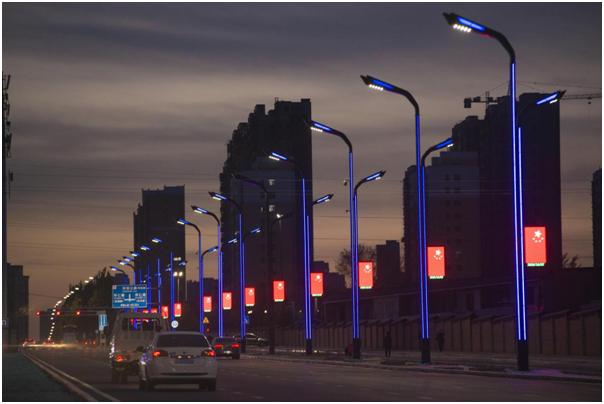 LED灯杆屏 智慧灯杆 智慧路灯