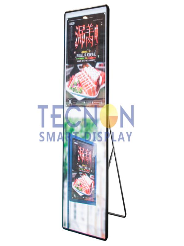 超薄镜子形LED广告机